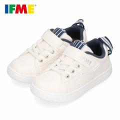 スニーカー イフミー キッズ IFME SAESON TREND シューズ 22-0110 NAVY ネイビー ホワイト ジュニア 子供靴 ベルクロ 軽量