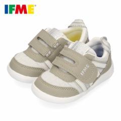 IFME イフミー 子供靴 スニーカー キッズ 男の子 女の子 22-0102 IFME Light イフミーライト ベルクロ 軽量 グレー