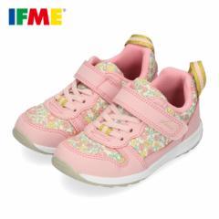 スニーカー イフミー キッズ IFME ifme CALIN シューズ 30-0126 PINK ピンク 花柄 靴 ベルクロ 軽量