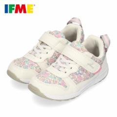 スニーカー イフミー キッズ IFME ifme CALIN シューズ 30-0126 WHITE 白 花柄 靴 ベルクロ 軽量