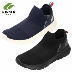 【還元祭クーポン対象】KINNER キナー スニーカー メンズ スリッポン MTK-002 1902N マルチトレーナー ブラック ネイビー スポーツ ラン