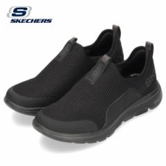 【BIGSALEクーポン対象】 スケッチャーズ メンズ スニーカー Skechers GO Walk 5-Downdraft 216015 BKCC ブラック チャコール スリッポン