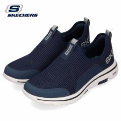 【BIGSALEクーポン対象】 スケッチャーズ メンズ スニーカー Skechers GO Walk 5-Downdraft 216015 NVGY ネイビー グレー スリッポン 通