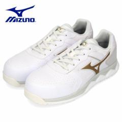 【BIGSALEクーポン対象】 安全靴 ミズノ MIZUNO オールマイティ HW11L 紐タイプ メンズ ワーキングシューズ ホワイト F1GA200001 3E 男性