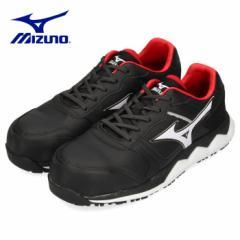 【BIGSALEクーポン対象】 安全靴 ミズノ MIZUNO オールマイティ HW11L 紐タイプ メンズ ワーキングシューズ ブラック F1GA200009 3E 男性
