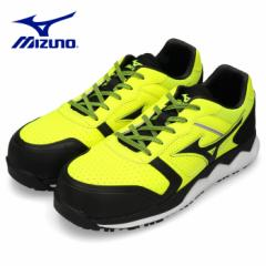 【BIGSALEクーポン対象】 安全靴 ミズノ MIZUNO オールマイティ HW11L 紐タイプ メンズ ワーキングシューズ イエロー F1GA200045 3E 男性