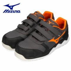 【還元祭クーポン対象】安全靴 ミズノ MIZUNO オールマイティ HW22L ベルトタイプ メンズ ワーキングシューズ グレー F1GA200105 3E 男性
