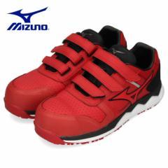【還元祭クーポン対象】安全靴 ミズノ MIZUNO オールマイティ HW22L ベルトタイプ メンズ ワーキングシューズ レッド F1GA200162 3E 男性