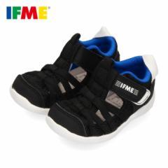 イフミー サンダル ベビー IFME 子供靴 ブラック 22-0106 キッズ シューズ 水遊び 速乾 黒 水陸両用
