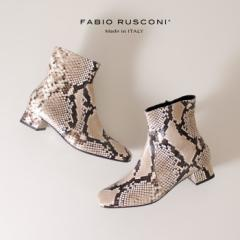 【BIGSALEクーポン対象】 ファビオルスコーニ FABIO RUSCONI 3007 F-5640 本革 ブーツ スクエアトゥ ショートブーツ レディース 靴 パイ