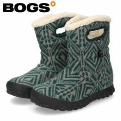 【BIGSALEクーポン対象】 BOGS ボグス ブーツ レディース B-MOC MID GEO ミッドジオ 72555 スノーブーツ グリーン 防水 防滑