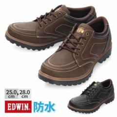 【BIGSALEクーポン対象】 スニーカー ブーツ メンズ 防水 EDWIN エドウィン EDM-543 カジュアル 防滑 滑りにくい ブラック ブラウン 通勤