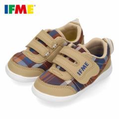イフミー 子供靴 IFME Light ベビーシューズ 20-0803 キッズ スニーカー ベルクロ 軽量 ベージュ