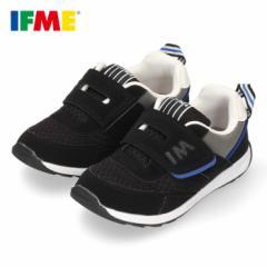 イフミー 子供靴 IFME スニーカー キッズ シューズ 30-0807 ブラック ベルクロ ジュニア 黒