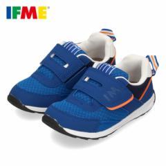 イフミー 子供靴 IFME スニーカー キッズ シューズ 30-0807 ブルー ベルクロ ジュニア 青