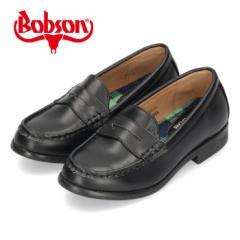 【BIGSALEクーポン対象】 BOBSON ボブソン 靴 キッズ ローファー 黒 子供靴 通園通学 フォーマル ブラック 定番 21