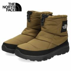 ザ ノースフェイス メンズ レディース ブーツ ヌプシ ブーティー ウォータープルーフ ロゴ ショート NF52076 FG グリーン カーキ スノー