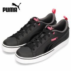 【BIGSALEクーポン対象】 PUMA レディース ジュニア スニーカー プーマ ブレイクポイント VULC BG 373633-04 ブラック シンプル オフィス