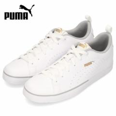 【BIGSALEクーポン対象】 PUMA レディース ジュニア スニーカー プーマ ブレイクポイント VULC パーフ BG 373651-01 ホワイト シンプル