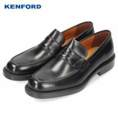 ケンフォード KENFORD 靴 メンズ ビジネスシューズ 日本製 本革 幅広 3E EEE ブラック K646L Uチップ ローファー セール