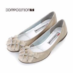 コンポジションナイン COMPOSITION9 靴 パンプス コンフォートシューズ レディース 2364 ベージュ エナメル 本革 日本製