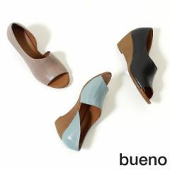 BUENO ブエノ サンダル レディース ヒール パンプス 2410 ウエッジソール オープントゥ 本革 軽量