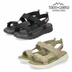 レディース サンダル スポーツサンダル ブラック ベージュ 黒 5117 靴 TOKYO CAMPGO