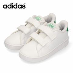 【還元祭クーポン対象】アディダス adidas ADVANCOURT I EF0301 ベビー キッズ ホワイト グリーン スニーカー ベルクロ