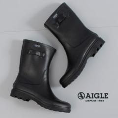 【BIGSALEクーポン対象】 AIGLE エーグル アイケア2 メンズ ICARE2 8885 長靴 ショート丈 レインブーツ ラバーブーツ 正規品 ブラック 黒