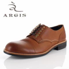【BIGSALEクーポン対象】 アルジス 靴 レザーシューズ メンズ 本革 ストレートチップ 外羽根式 ブラウン 71140 ハトメ カジュアル 革靴