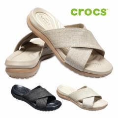 クロックス crocs サンダル レディース カプリ 5.0 シマー エックスバンド 204908 コンフォートサンダル ビーチサンダル クロスベルト
