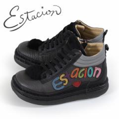 【BIGSALEクーポン対象】 エスタシオン ブーツ 靴 estacion TGE316 (BL/MT) ショートブーツ アンクル レディース 黒 マルチ 厚底 ロー
