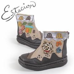 【BIGSALEクーポン対象】 エスタシオン 靴 ブーツ estacion TGE320 (OK/MT) レディース ブラウン オーク マルチ 本革 厚底 カジュアル シ