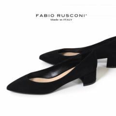 【還元祭クーポン対象】ファビオルスコーニ FABIO RUSCONI パンプス 靴 81106 スエード ポインテッドトゥ チャンキーヒール 太ヒール 本