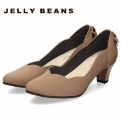 【BIGSALEクーポン対象】 JELLY BEANS ジェリービーンズ パンプス バックリボン ヒール 2685 靴 レディース パーティー フラワーカット