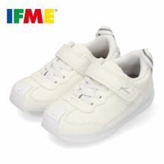 スニーカー イフミー キッズ IFME CALIN カラン シューズ 30-9716 WHITE 白 子供靴 ベルト 超軽量 花柄