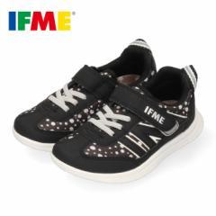 スニーカー イフミー キッズ IFME Light シューズ 22-9727 BLACK ブラック ジュニア 子供靴 ベルクロ 軽量 水玉