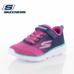 【BIGSALEクーポン対象】 キッズ スニーカー スケッチャーズ SKECHERS GO RUN 400-SPARKLE ZOOMS 81354L-NVPK NP5P ガールズ 子供靴 ピン