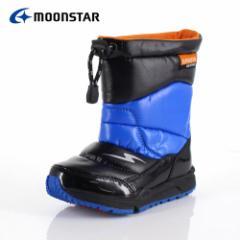 キッズ ブーツ 防水 MoonStar ムーンスター スーパースター 子供靴 SS WPC78SP ブルー BU-00078 ウインター ダウンブーツ スパイク