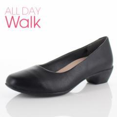 【還元祭クーポン対象】ALL DAY Walk オールデイウォーク 靴 ALD 0660 パンプス スクエアトゥ ビジネス フォーマル リクルート 2E 黒 ブ