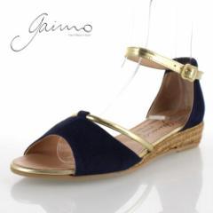 gaimo ガイモ 靴 2103 NOVITA DEB ANTE サンダル ジュート スエード ローヒール エスパドリーユ 紺 ネイビー レディース セール