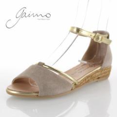 gaimo ガイモ 靴 2103 NOVITA DEB ANTE サンダル ジュート スエード ローヒール エスパドリーユ オーク グレー レディース