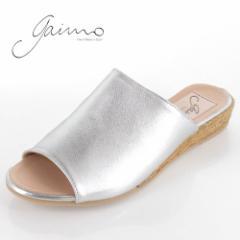 gaimo ガイモ サンダル エスパドリーユ  ジュート 靴 本革 レディース 9402 NISSAN シルバー セール