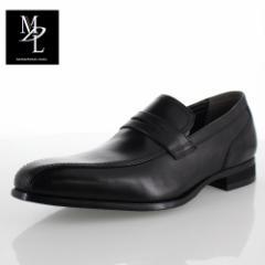 madras MDL マドラス DS4063 BLA メンズ ビジネスシューズ ローファー スワールモカ ロングノーズ 本革 革靴 男性 3E 通勤 ブラック