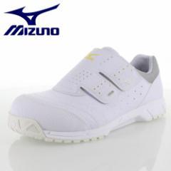 安全靴 ミズノ MIZUNO メンズ レディース ワーキング スニーカー オールマイティAS C1GA181101 ホワイト 作業靴 3E 静電気防止