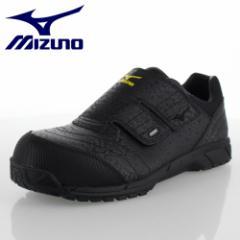 安全靴 ミズノ MIZUNO メンズ レディース ワーキング スニーカー オールマイティAS C1GA181109 ブラック 作業靴 3E 静電気防止