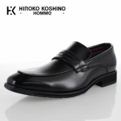 【BIGSALEクーポン対象】 ヒロココシノ オム HIROKO KOSHINO HOMME HK4552 ブラック メンズ 靴 ビジネスシューズ ローファー スリッポン