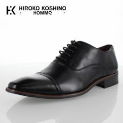 ヒロコ コシノ オム HIROKO KOSHINO HOMME HK9801 ブラック メンズ 靴 ビジネスシューズ ストレートチップ 内羽式  3E