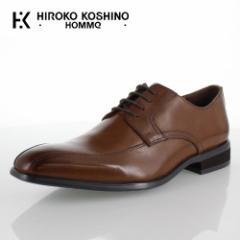 【BIGSALEクーポン対象】 ヒロコ コシノ オム HIROKO KOSHINO HOMME HK127 ブラウン メンズ 靴 ビジネスシューズ スワールモカ 外羽式 本