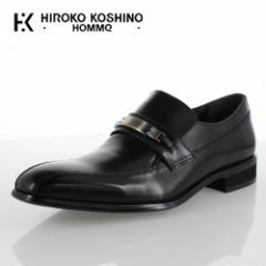 【BIGSALEクーポン対象】 ヒロコ コシノ オム HIROKO KOSHINO HOMME HK130 ブラック メンズ 靴 ビジネスシューズ スワールモカ ビット ロ